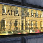 Edinburgh Baha&#039;i Centre nameplate