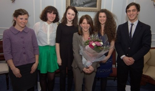 Lynne Featherstone MP with members of the youth panel