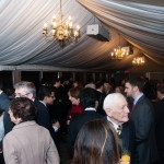 Baha'is, parliamentarians and guests gathered on the terrace of the House of Commons