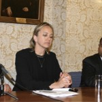 (From left) Mahnaz Parakand, Kirsty Brimelow QC, Dr Ahmed Shaheed, Dr Nazila Ghanea, discuss access to justice violations in Iran