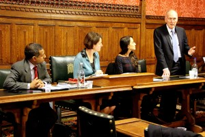 Left to right: Dr Ahmed Shaheed, Baroness Berridge, Kat Eghdamian, Paul Goggins MP