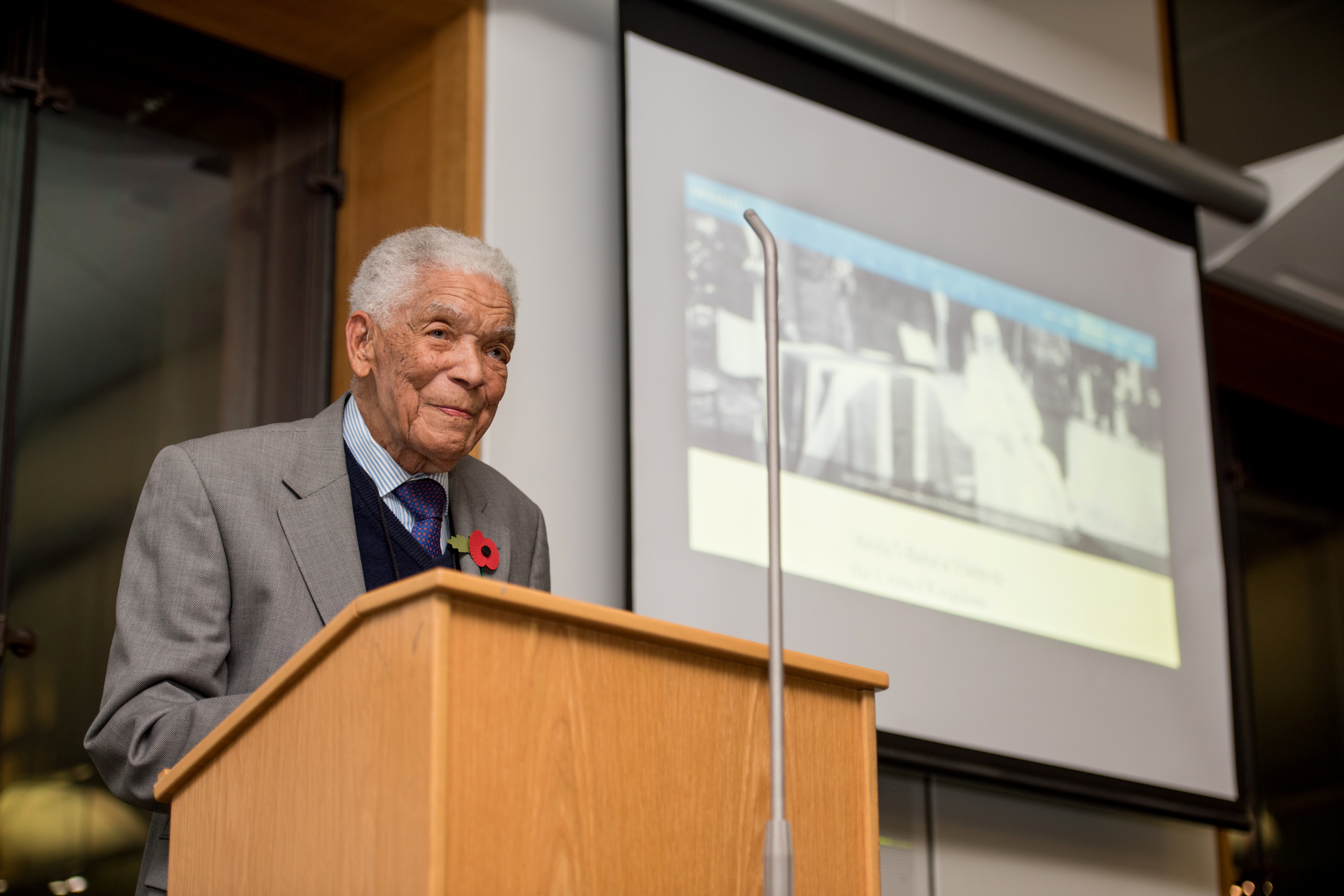 Guest of honour, Earl Cameron CBE